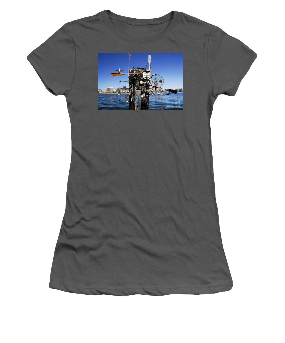 Fisherman Women's T-Shirt (Athletic Fit) featuring the photograph Fisherman's Wharf by David Lee Thompson