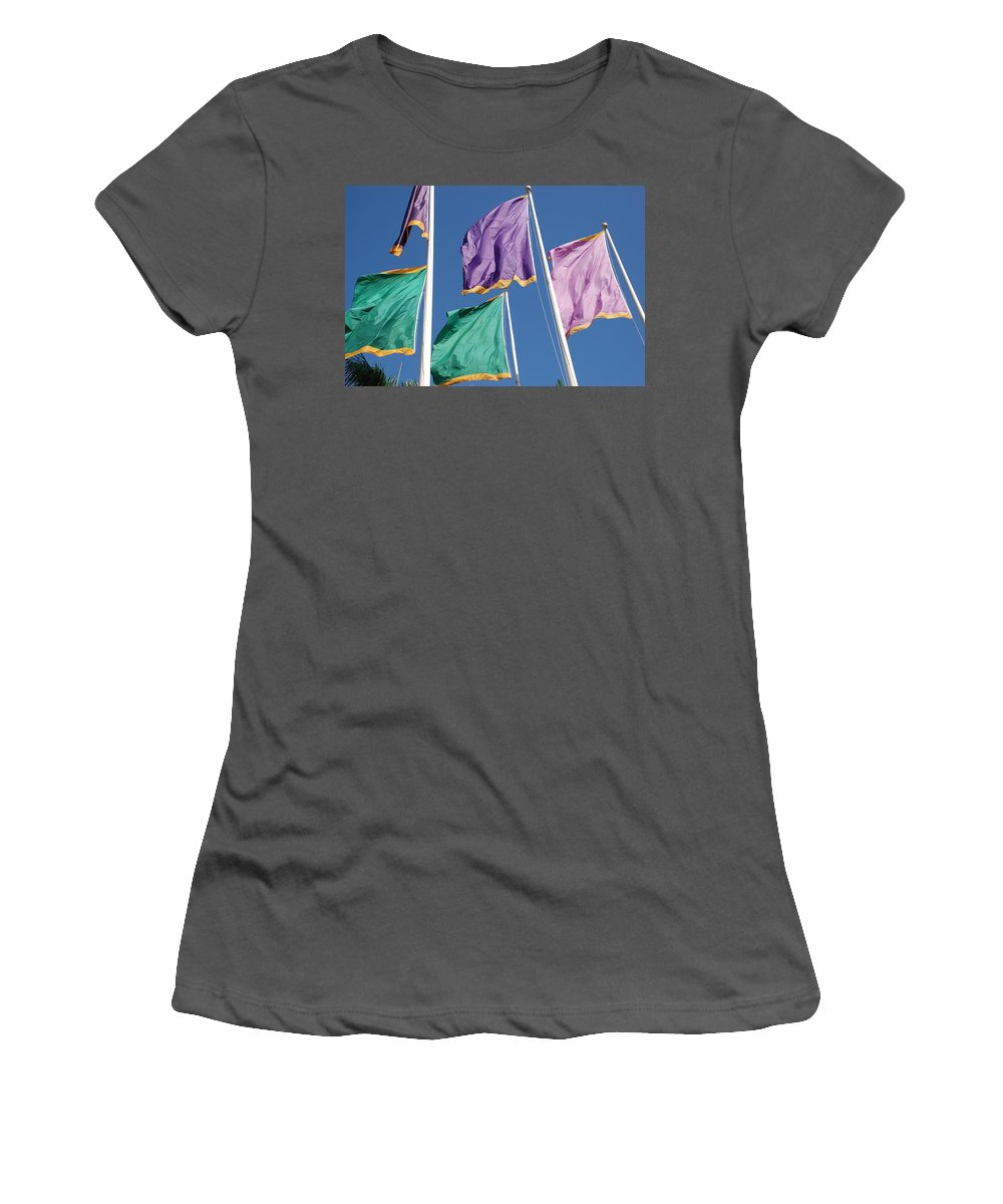 Flags Women's T-Shirt (Athletic Fit) featuring the photograph Flags by Rob Hans
