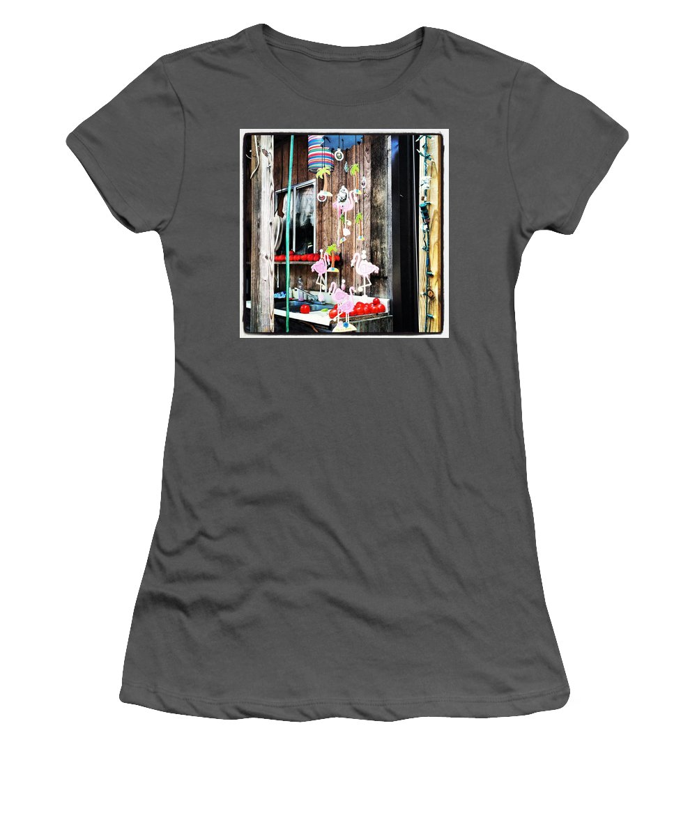 Flamingo Women's T-Shirt (Athletic Fit) featuring the photograph Flamingo Cabin by Artie Rawls