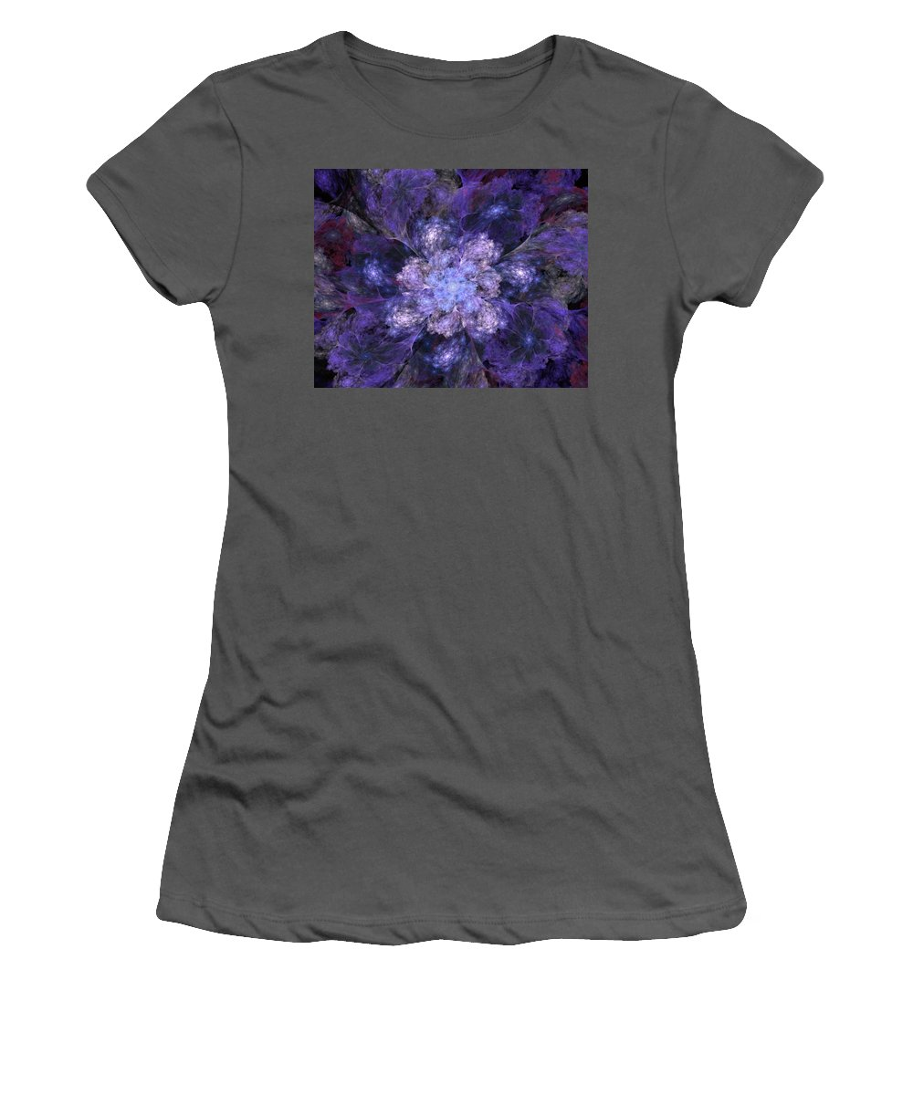 Digital Painting Women's T-Shirt (Athletic Fit) featuring the digital art Floral Fantasy 1 by David Lane