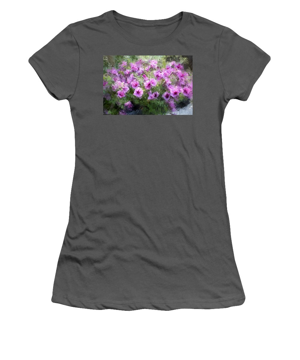 Digital Photography Women's T-Shirt (Athletic Fit) featuring the photograph Floral Study 053010 by David Lane