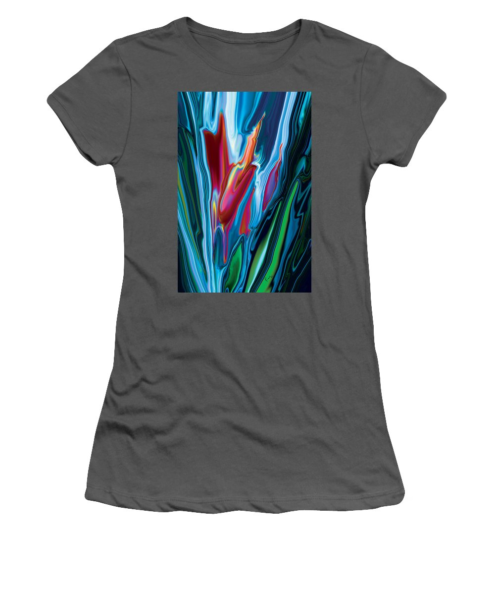 Botanical Women's T-Shirt (Athletic Fit) featuring the digital art Flower Unknown by Rabi Khan