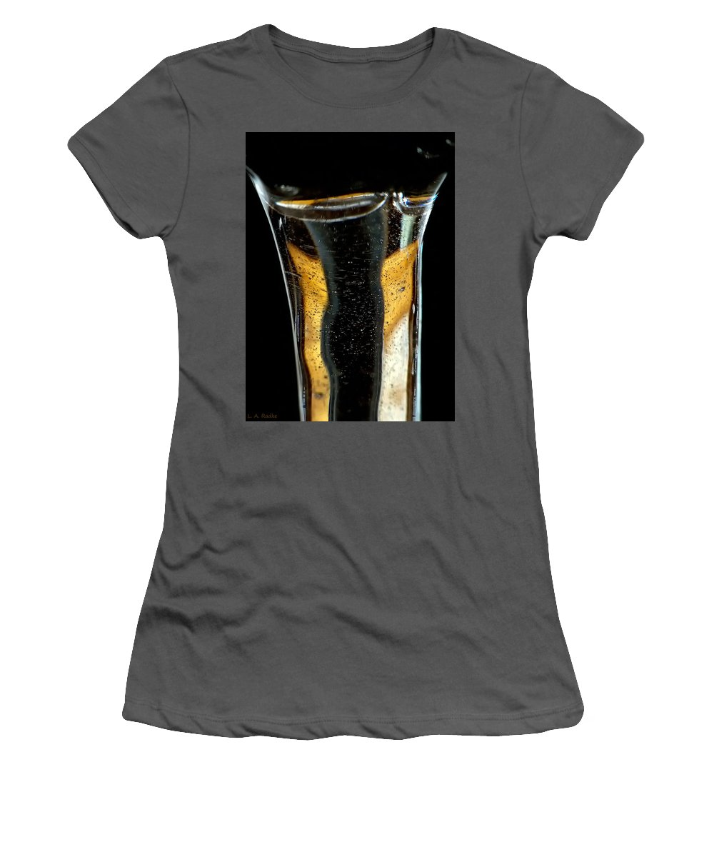 Abstract Women's T-Shirt (Athletic Fit) featuring the photograph Fluidity IIi by Lauren Radke