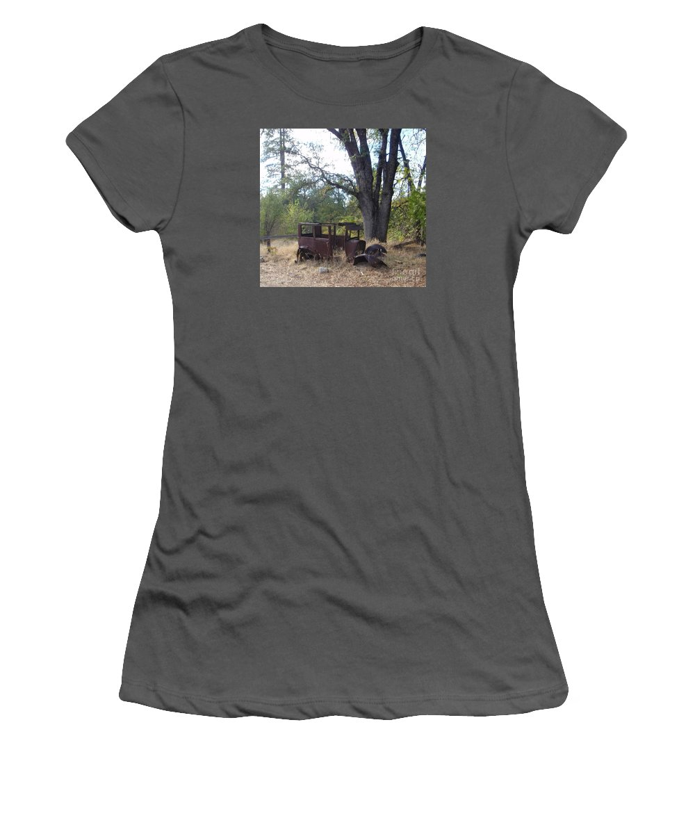 Ford Women's T-Shirt (Athletic Fit) featuring the photograph Ford Model A by Mary Deal