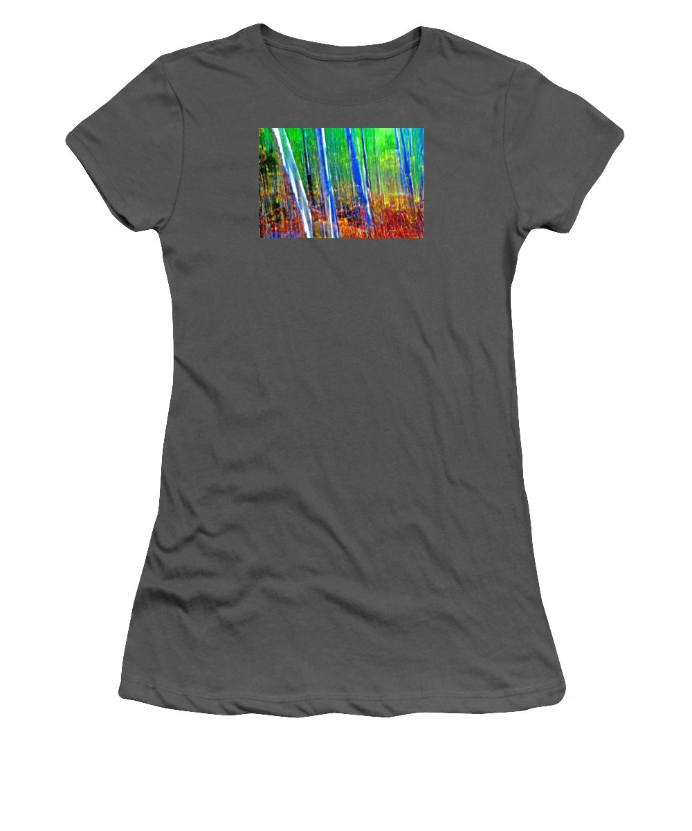 Forest Women's T-Shirt (Athletic Fit) featuring the photograph Forest Magic by Bill Morgenstern