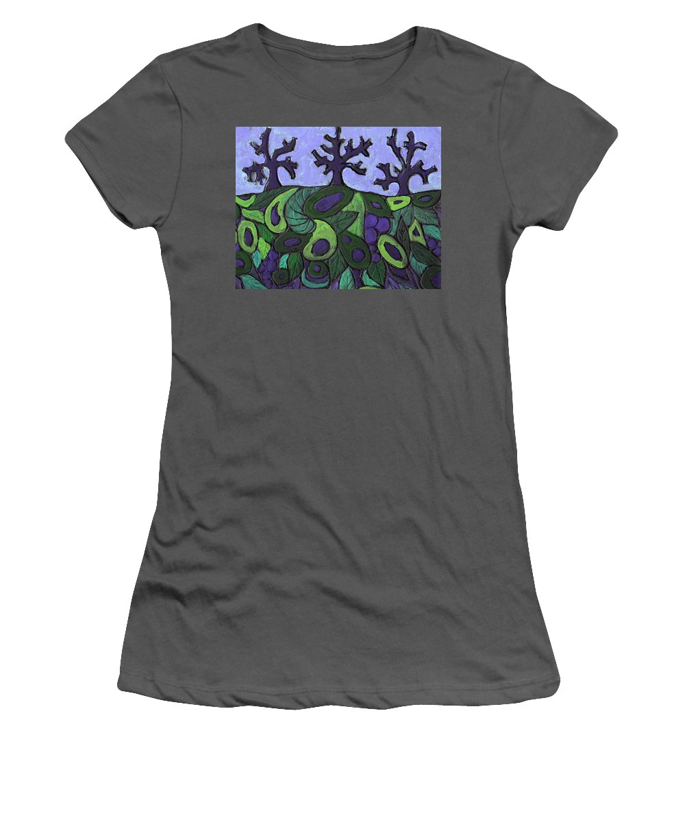 Forest Women's T-Shirt (Athletic Fit) featuring the painting Forest Royal by Wayne Potrafka