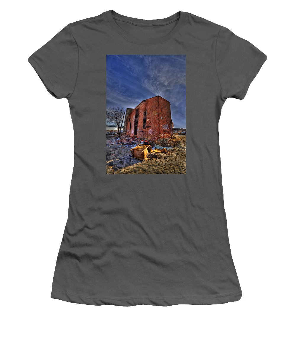 Abandoned Women's T-Shirt (Athletic Fit) featuring the photograph Forsaken Luxury by Evelina Kremsdorf