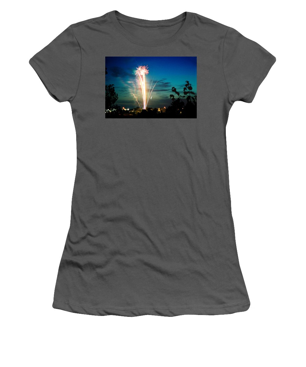 Landscape Women's T-Shirt (Athletic Fit) featuring the photograph Fourth Of July by Steve Karol