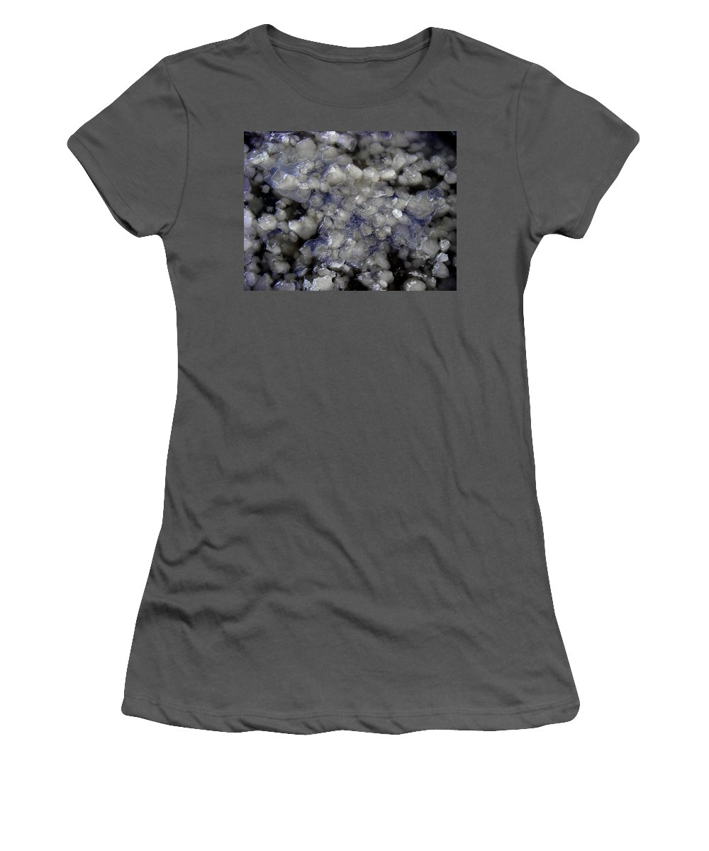 Ice Photos Women's T-Shirt (Athletic Fit) featuring the photograph Frozen Blue by Strato ThreeSIXTYFive