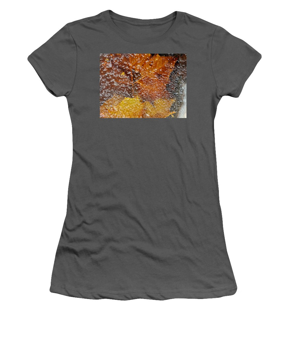 Ice Women's T-Shirt (Athletic Fit) featuring the photograph Frozen Colors by Stephen Anderson