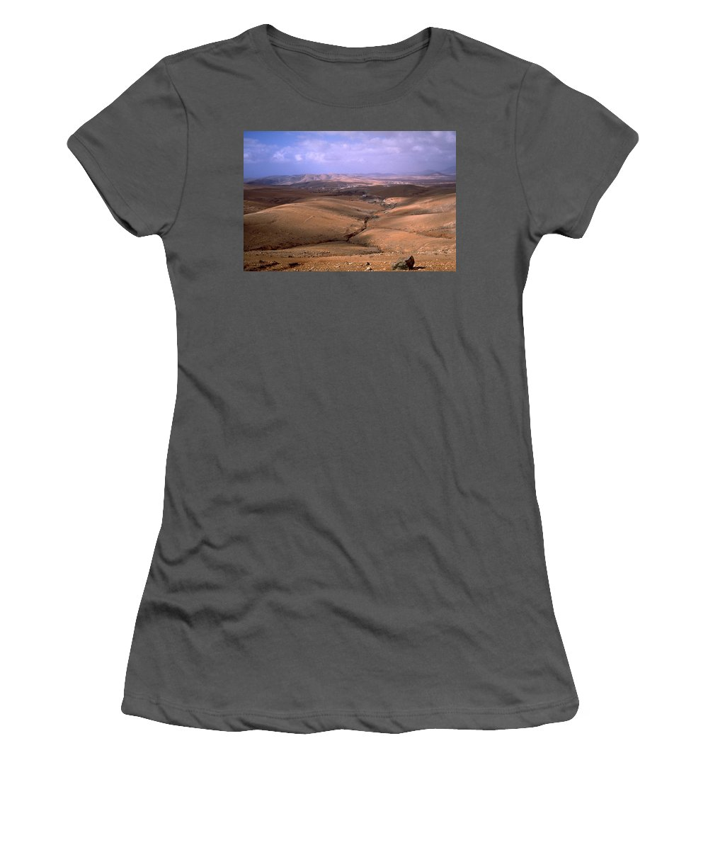 Fuerteventura Women's T-Shirt (Athletic Fit) featuring the photograph Fuerteventura I by Flavia Westerwelle