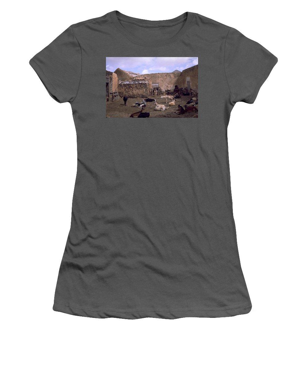 Fuerteventura Women's T-Shirt (Athletic Fit) featuring the photograph Fuerteventura IIi by Flavia Westerwelle
