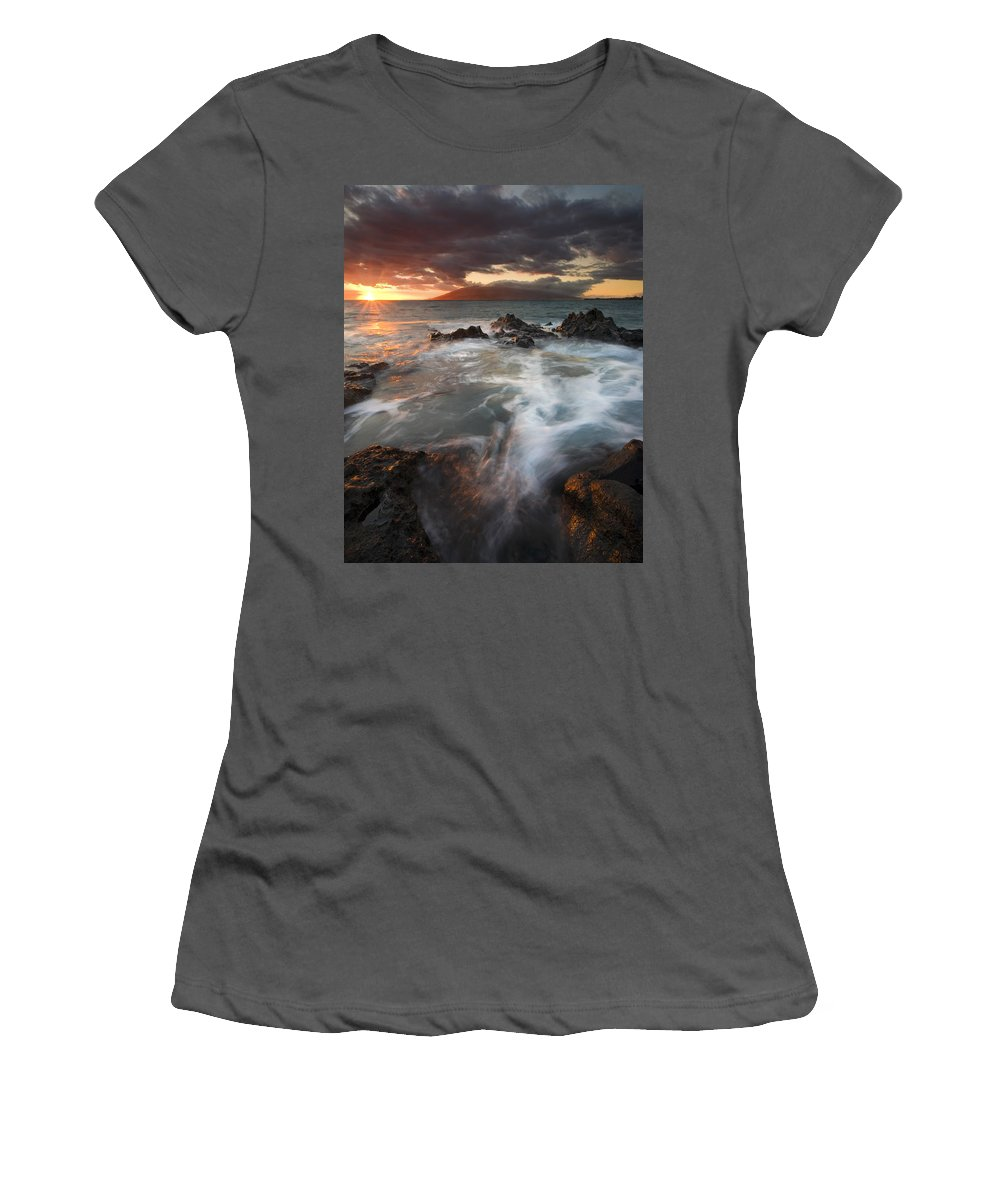 Cauldron Women's T-Shirt (Athletic Fit) featuring the photograph Full To The Brim by Mike Dawson