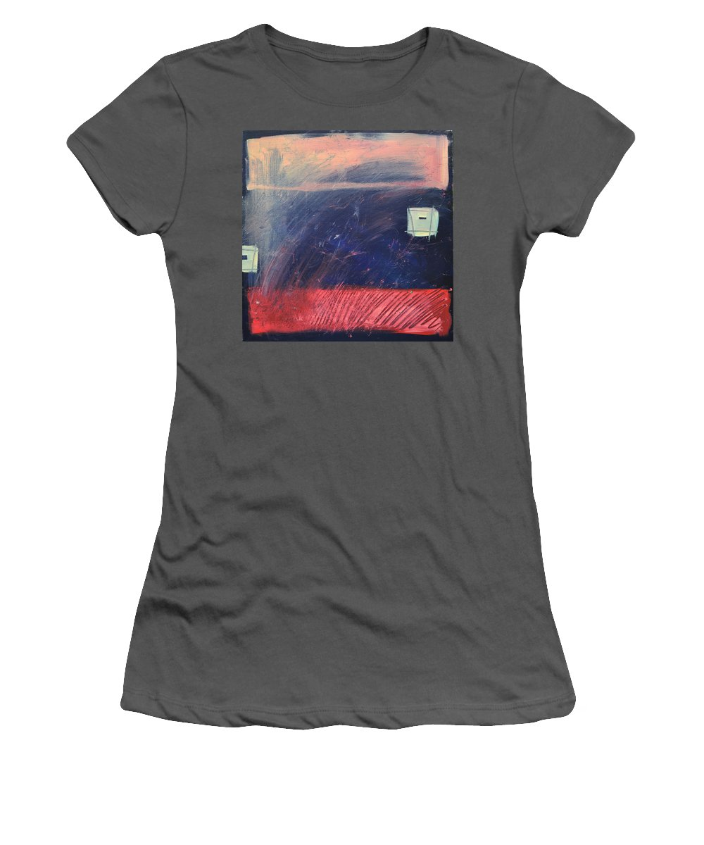 Red Women's T-Shirt (Athletic Fit) featuring the painting Fyr Bal by Tim Nyberg