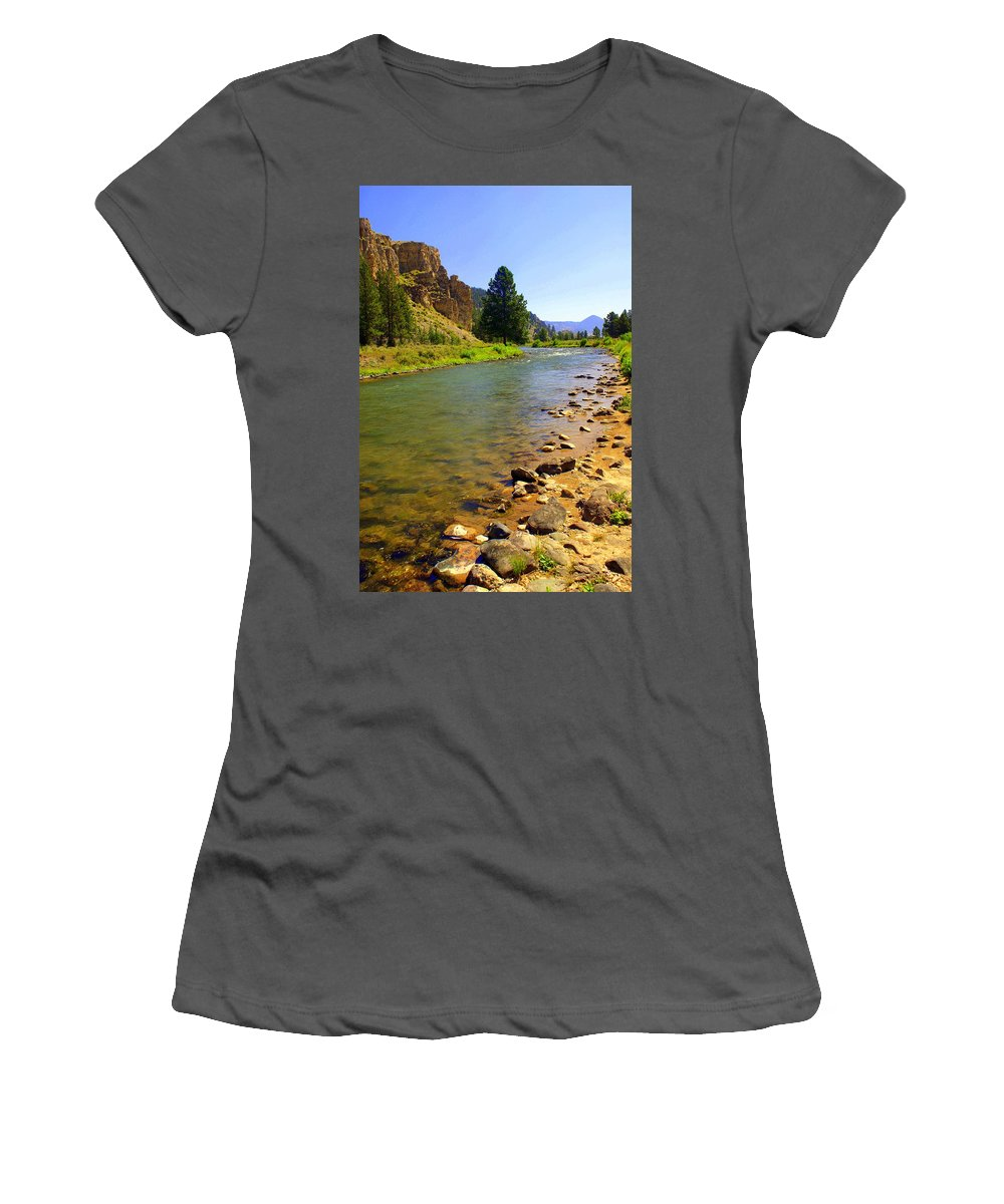 Gallitan River Women's T-Shirt (Athletic Fit) featuring the photograph Gallitan River 1 by Marty Koch