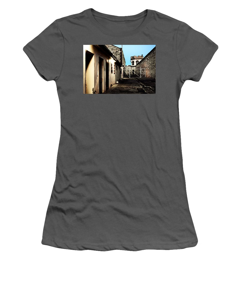 Old Women's T-Shirt (Athletic Fit) featuring the photograph Gaol by Kelly Jade King