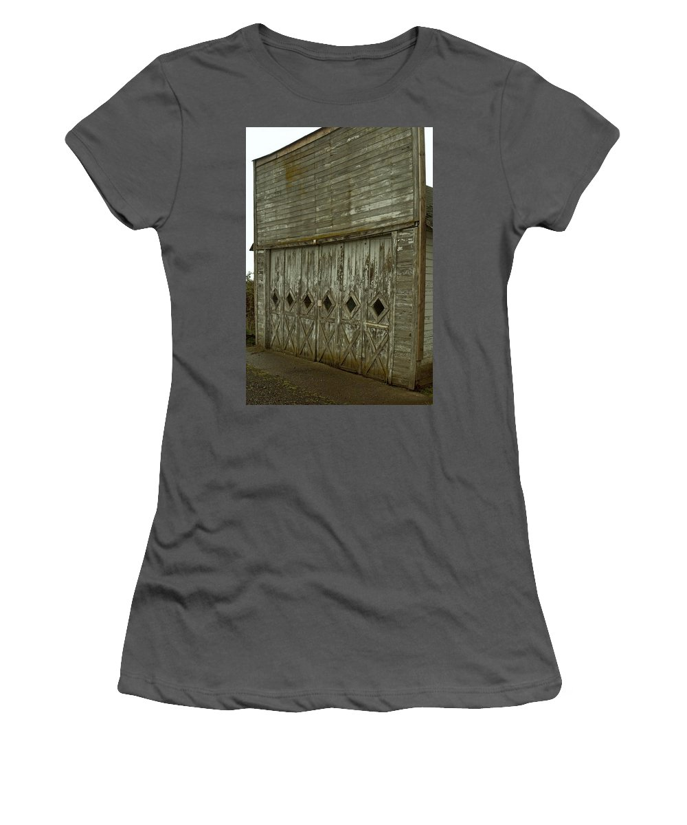 Barn Women's T-Shirt (Athletic Fit) featuring the photograph Garage by Sara Stevenson