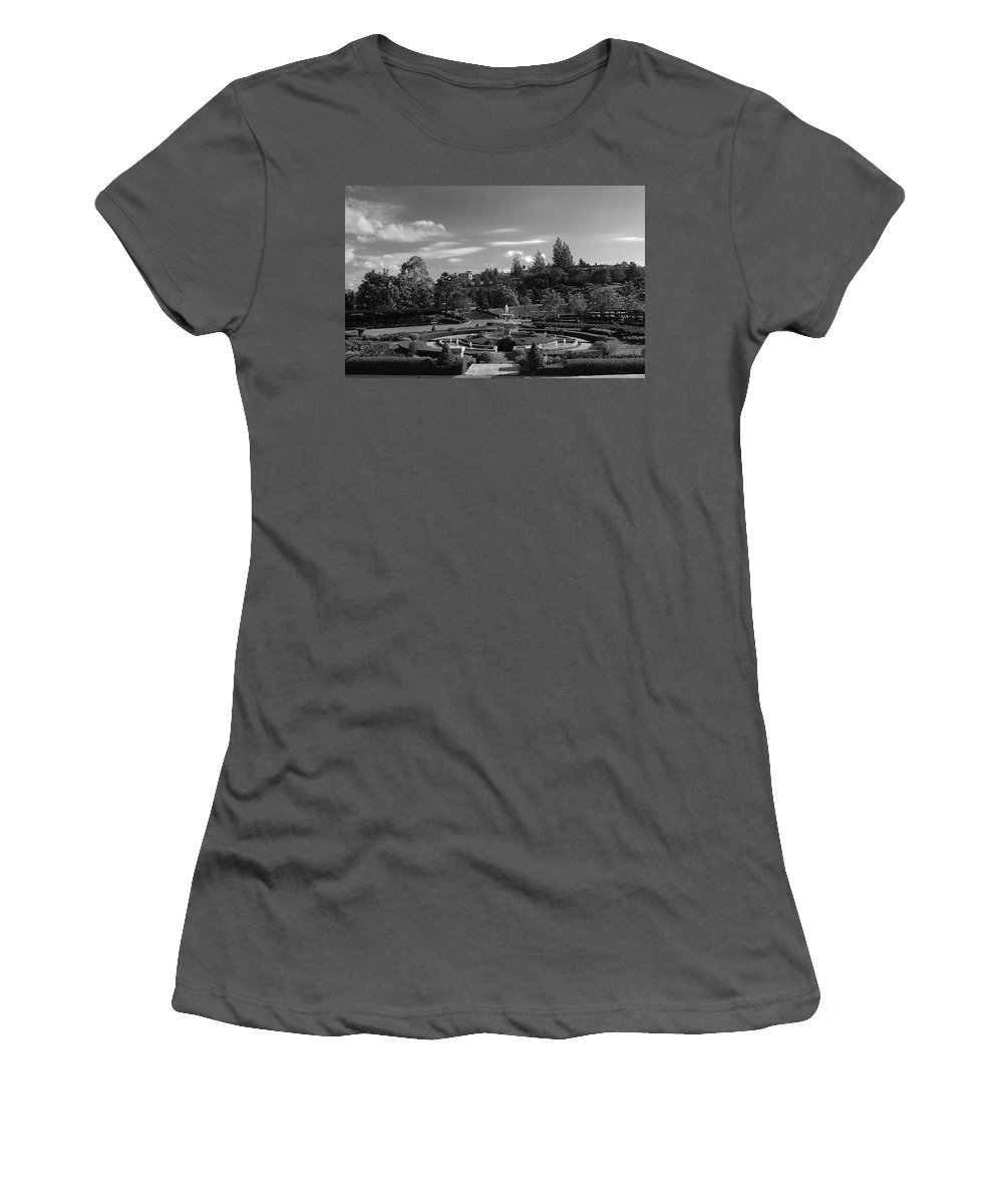 Garden Women's T-Shirt (Athletic Fit) featuring the photograph Garden Fountain by William Gale