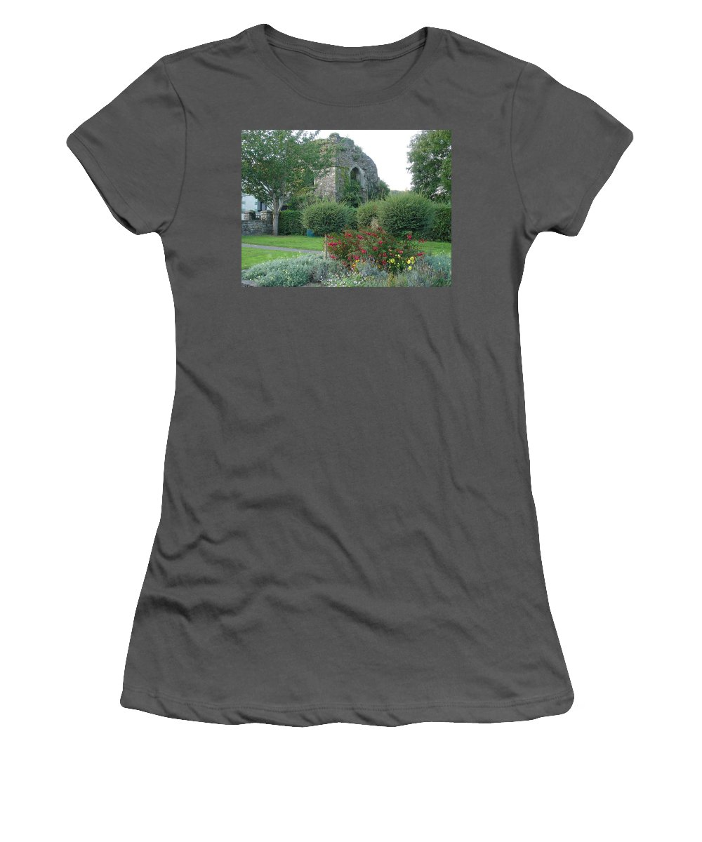 Inistioge Women's T-Shirt (Athletic Fit) featuring the photograph Garden Path by Kelly Mezzapelle