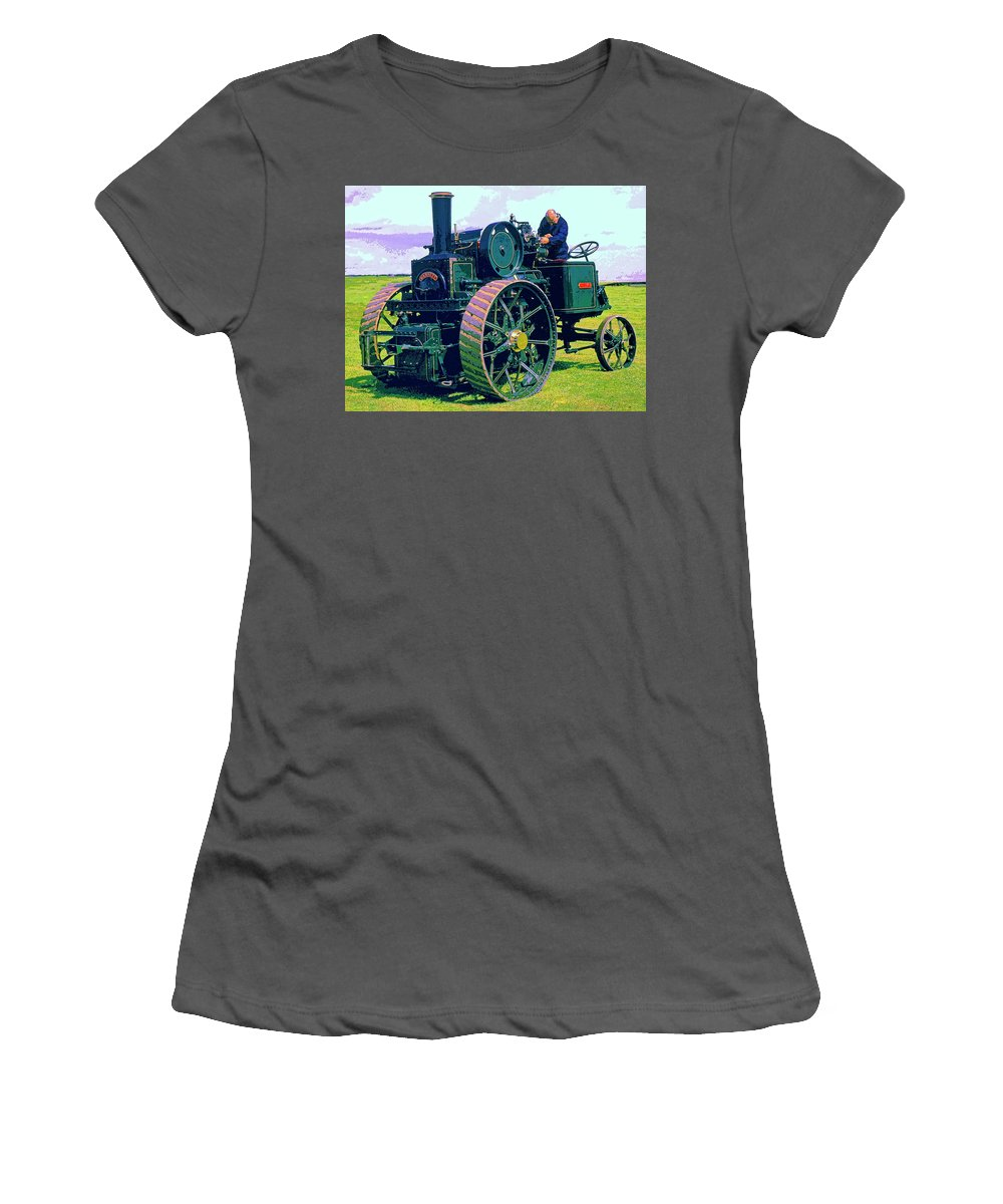 Garrett Women's T-Shirt (Athletic Fit) featuring the mixed media Garrett by Dominic Piperata