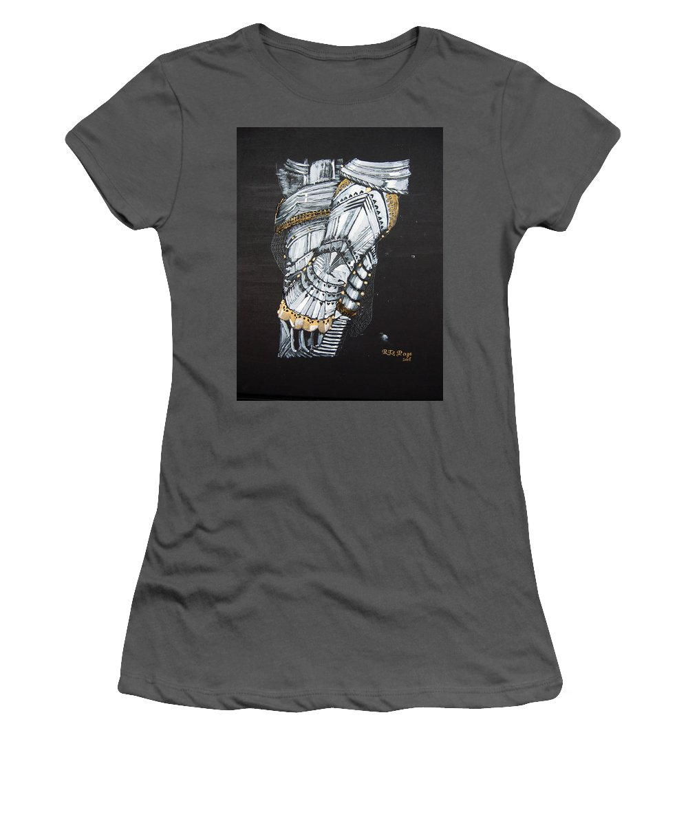 Arm Armor Women's T-Shirt (Athletic Fit) featuring the painting Gaunlet by Richard Le Page