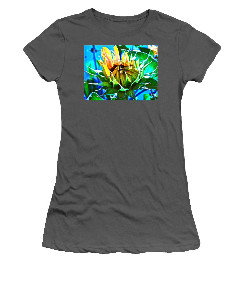 Photographs Women's T-Shirt (Athletic Fit) featuring the photograph Genesis by Gwyn Newcombe