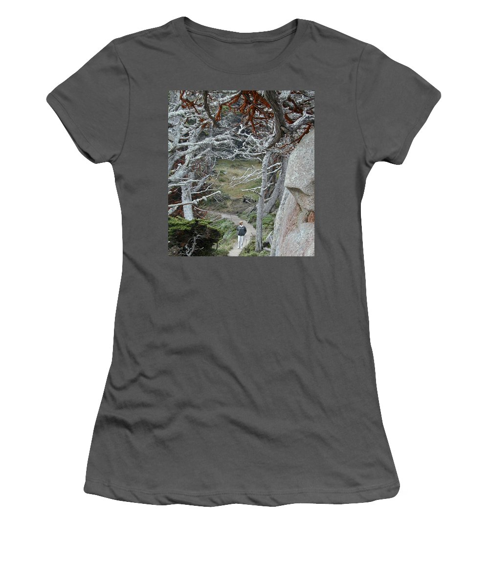 Lichens Women's T-Shirt (Athletic Fit) featuring the photograph Ghost Trees by Douglas Barnett