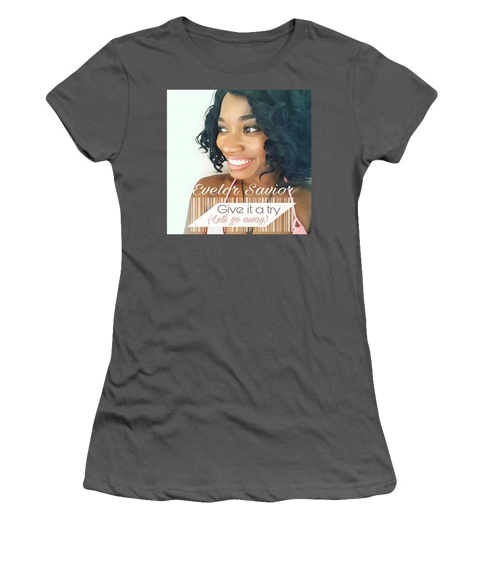Women's T-Shirt (Athletic Fit) featuring the photograph Give It A Try by Evelor Savior