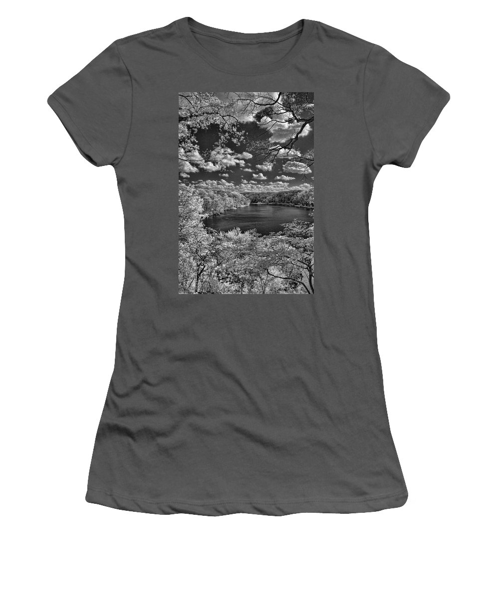 Infrared Women's T-Shirt (Athletic Fit) featuring the photograph Glacier Lake by Michael McGowan