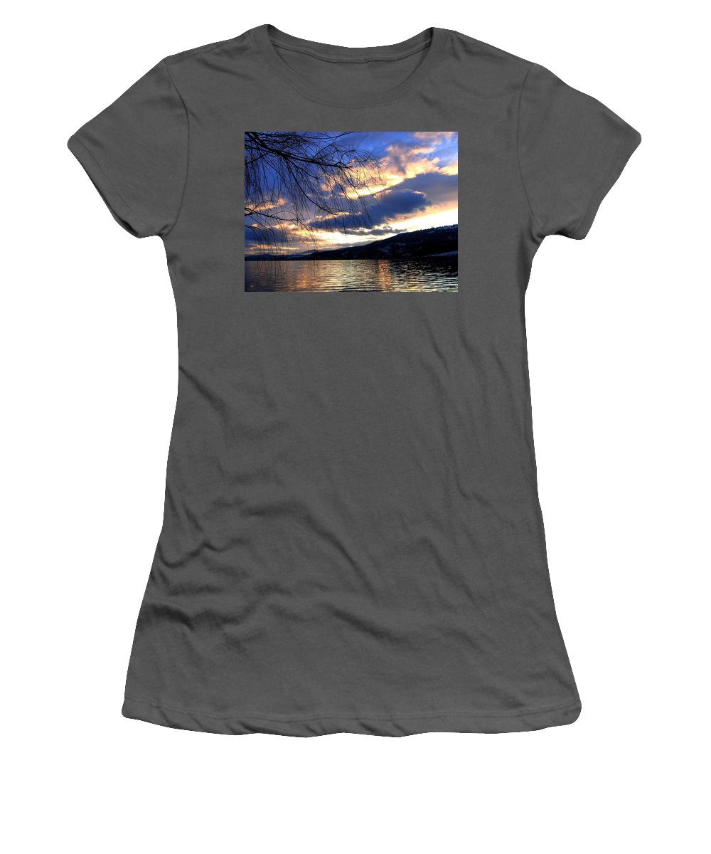 Twilight Hour Women's T-Shirt (Athletic Fit) featuring the photograph Glorious Twilight Hour by Will Borden