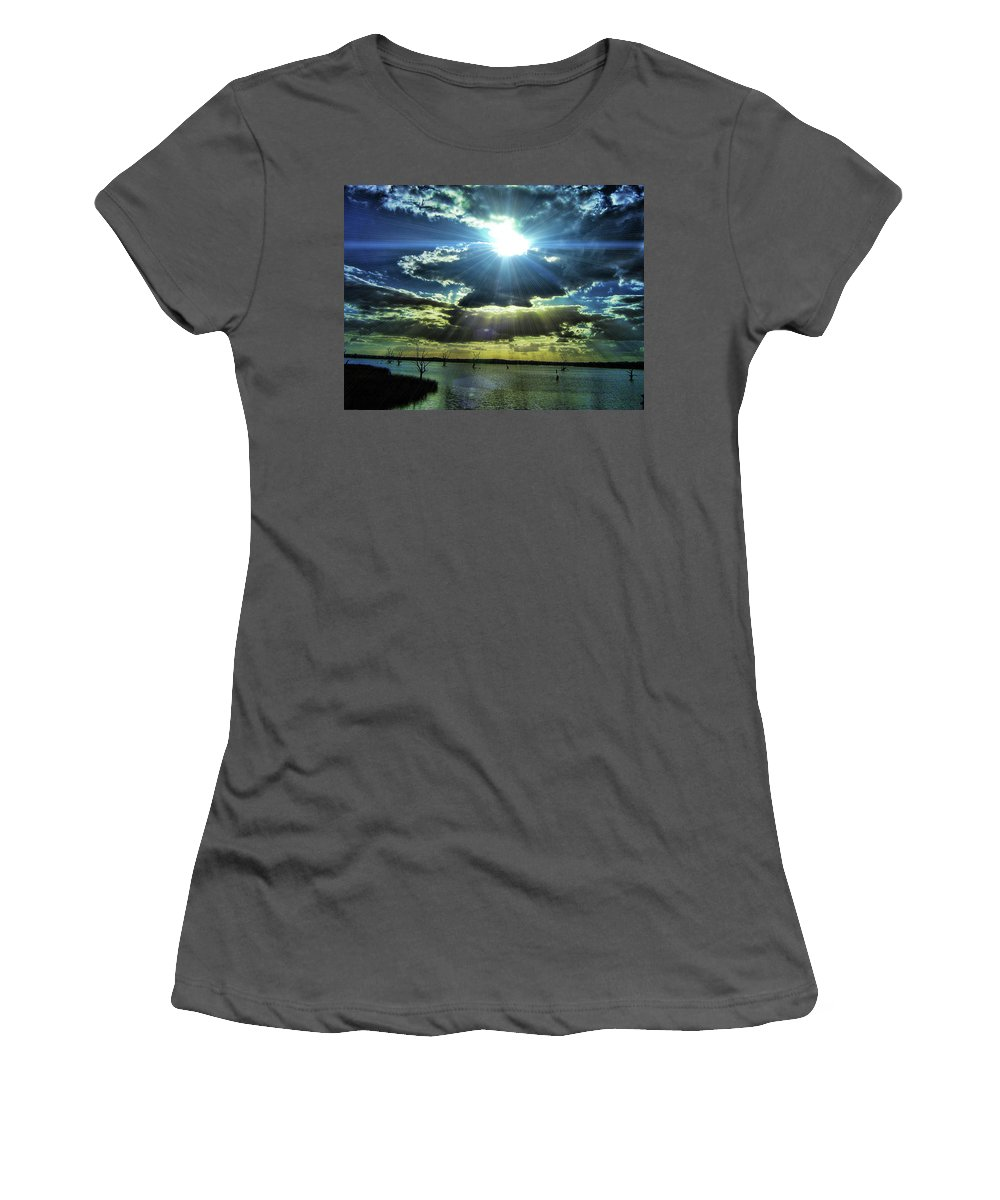 Water Women's T-Shirt (Athletic Fit) featuring the photograph Gods Eye by Douglas Barnard