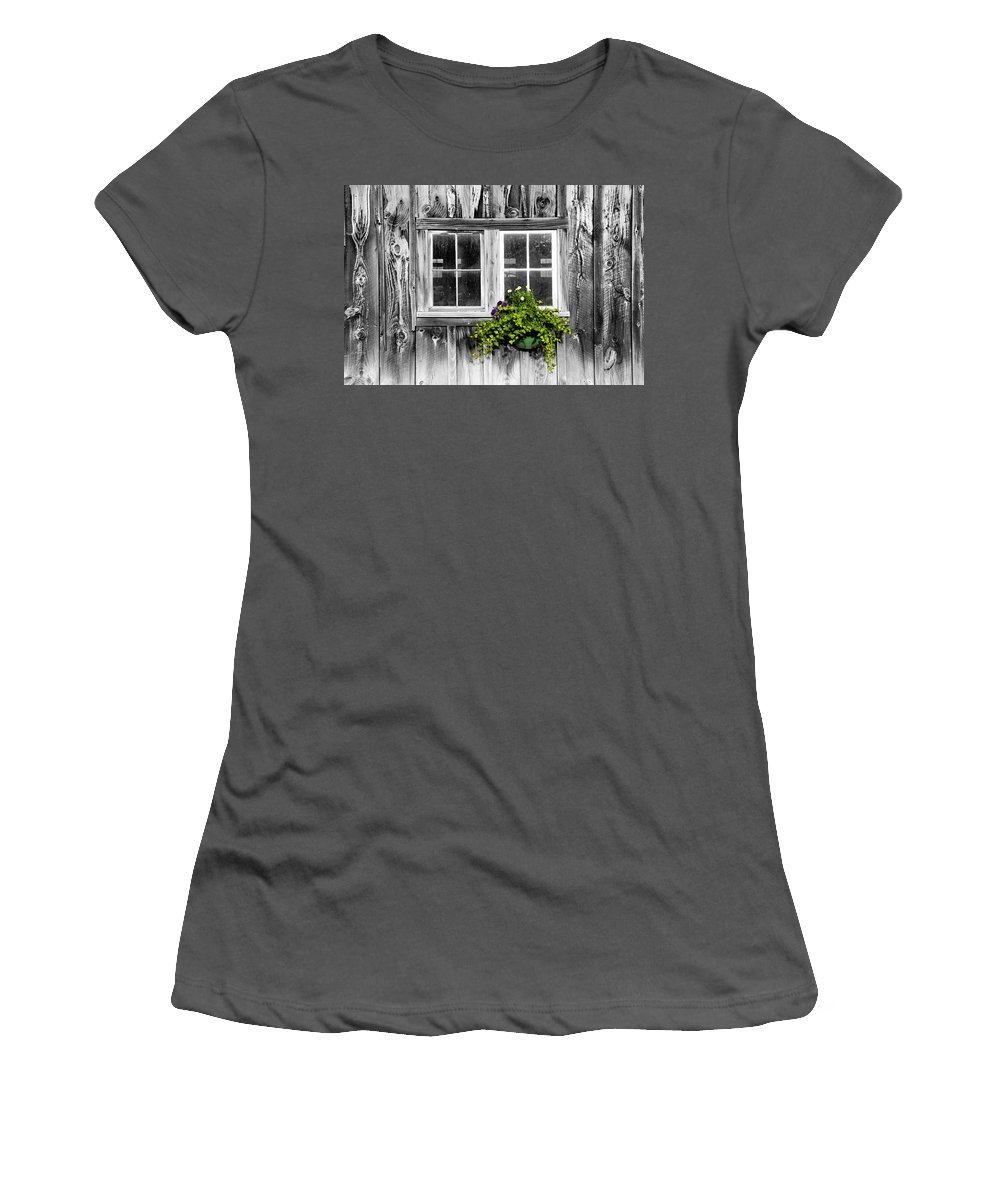 Flowers Women's T-Shirt (Athletic Fit) featuring the photograph Going Green by Greg Fortier