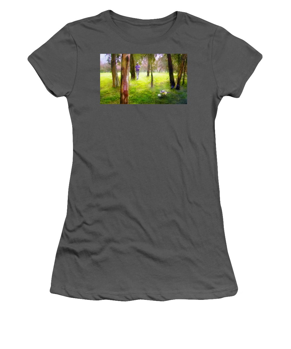 Golf Women's T-Shirt (Athletic Fit) featuring the painting Golf Trophee Hassan II In Royal Golf Dar Es Salam Morocco 02 by Miki De Goodaboom