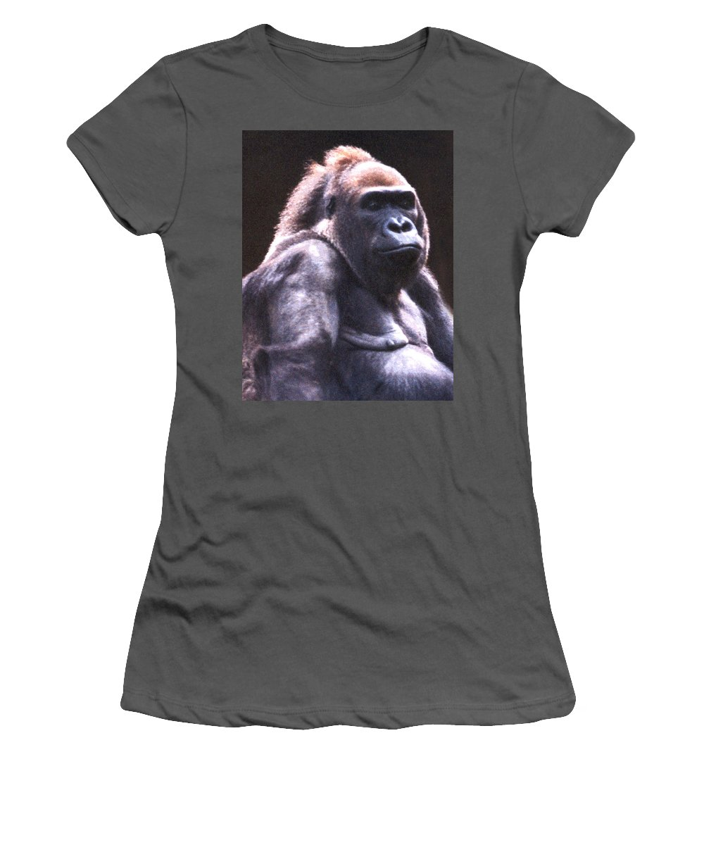 Gorilla Women's T-Shirt (Athletic Fit) featuring the photograph Gorilla by Steve Karol