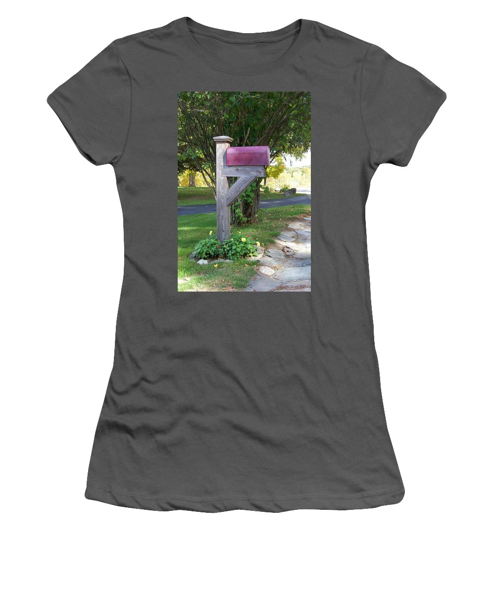 Photography Women's T-Shirt (Athletic Fit) featuring the digital art Got Mail by Barbara S Nickerson