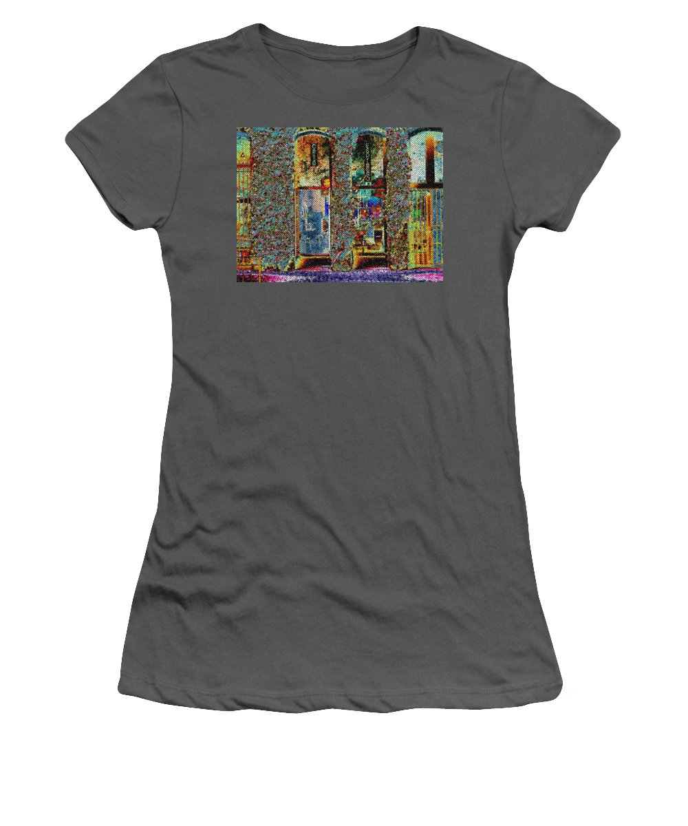 Seattle Women's T-Shirt (Athletic Fit) featuring the digital art Grand Central Bakery Mosaic by Tim Allen