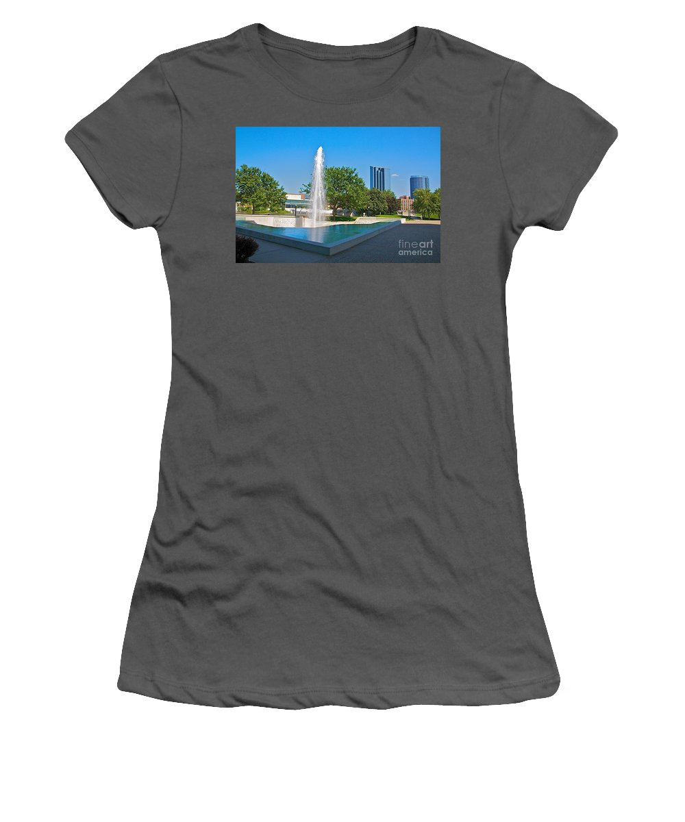 City Women's T-Shirt (Athletic Fit) featuring the photograph Grand Rapids Mi-7 by Robert Pearson