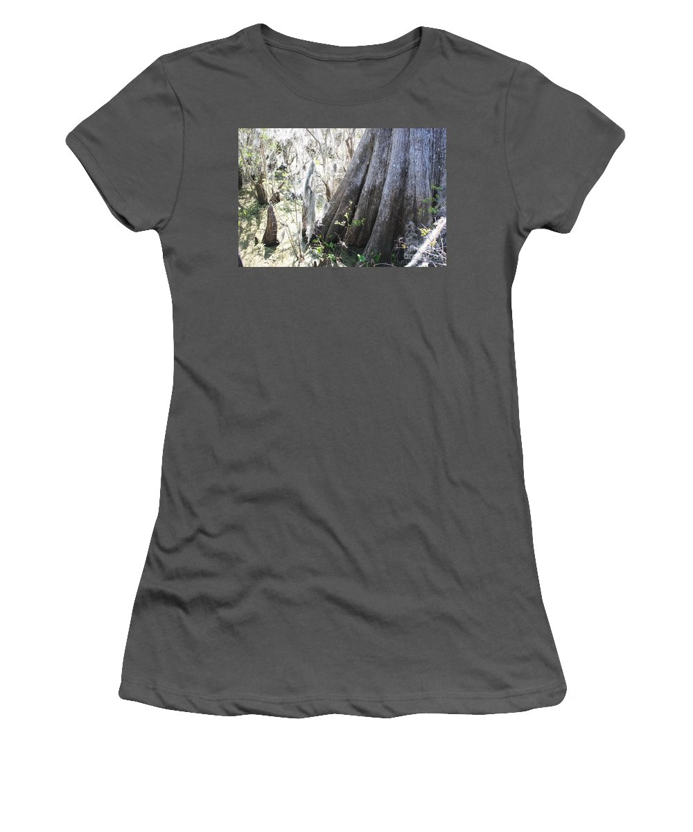 Old Cypress Women's T-Shirt (Athletic Fit) featuring the photograph Grandfather Cypress by Carol Groenen