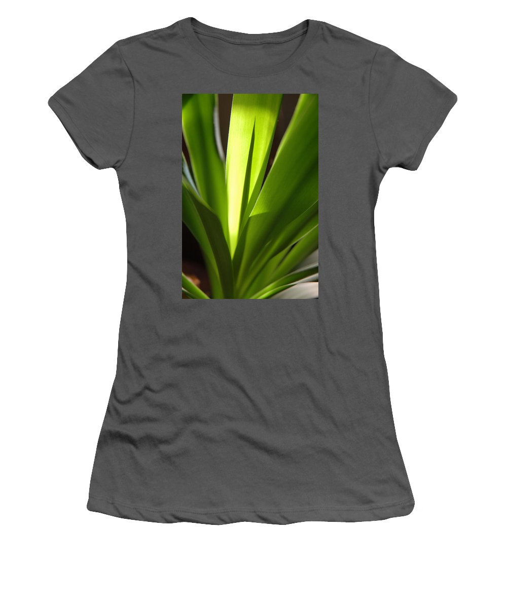 Green Women's T-Shirt (Athletic Fit) featuring the photograph Green Patterns by Jerry McElroy