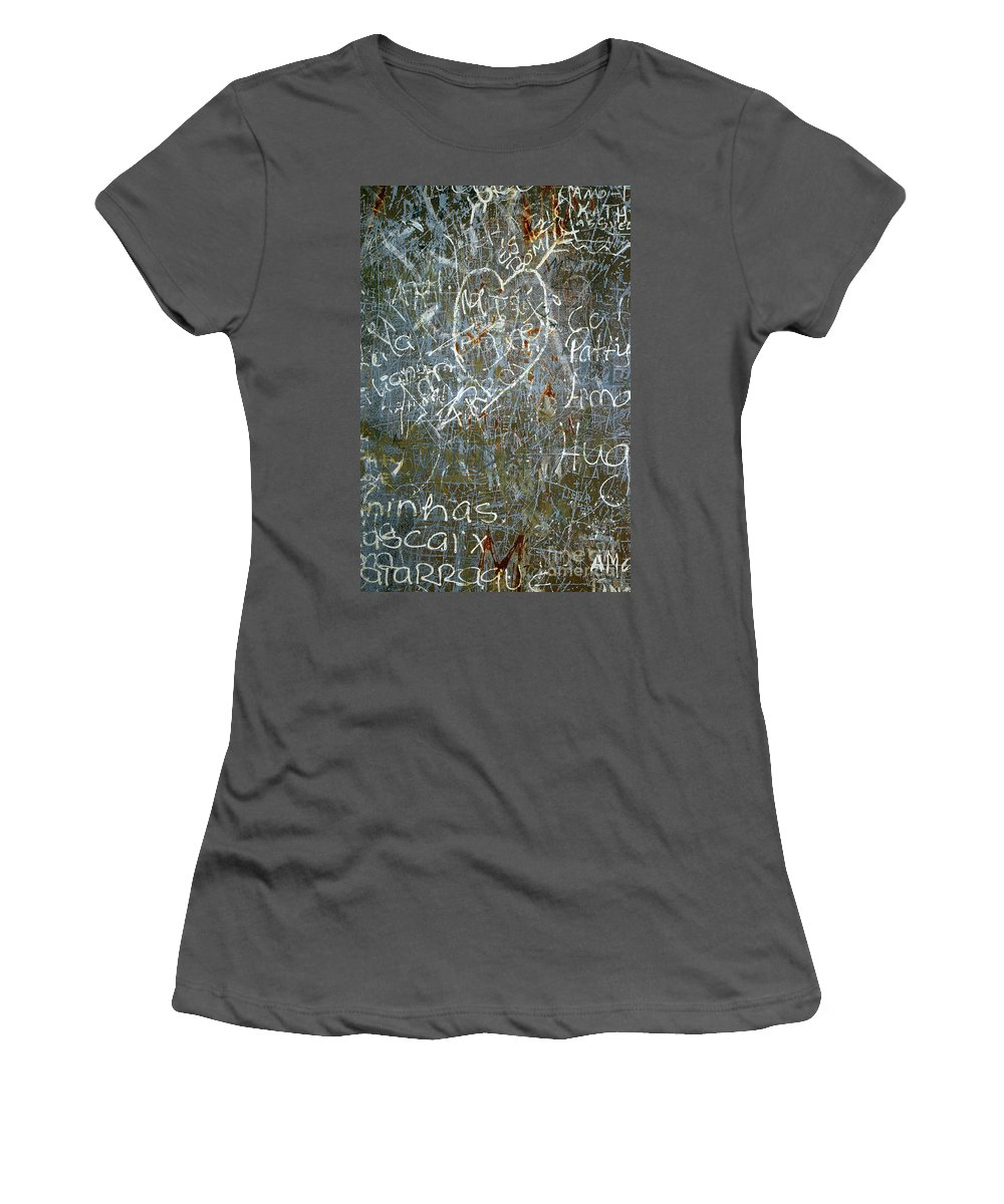 Abstract Women's T-Shirt (Athletic Fit) featuring the photograph Grunge Background IIi by Carlos Caetano