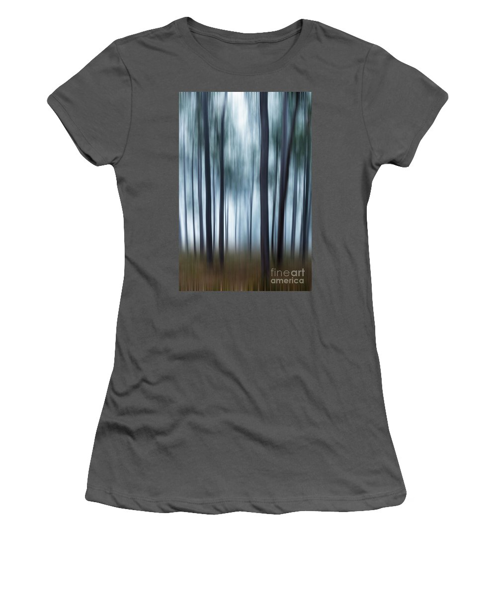 Trees Women's T-Shirt (Athletic Fit) featuring the photograph Gum Trees by Noelene Kuzman