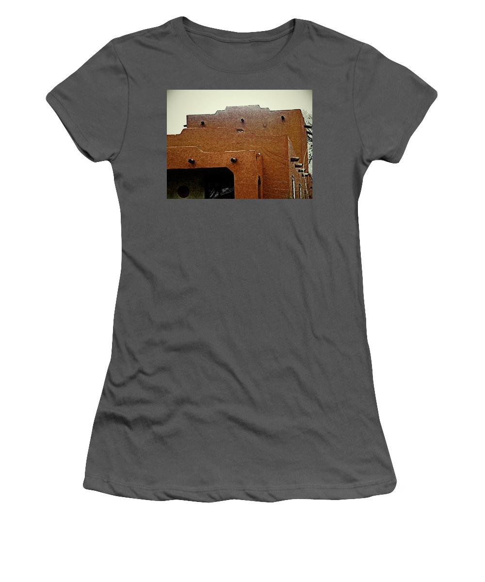 Abstract Women's T-Shirt (Athletic Fit) featuring the digital art Hacienda 12 by Lenore Senior