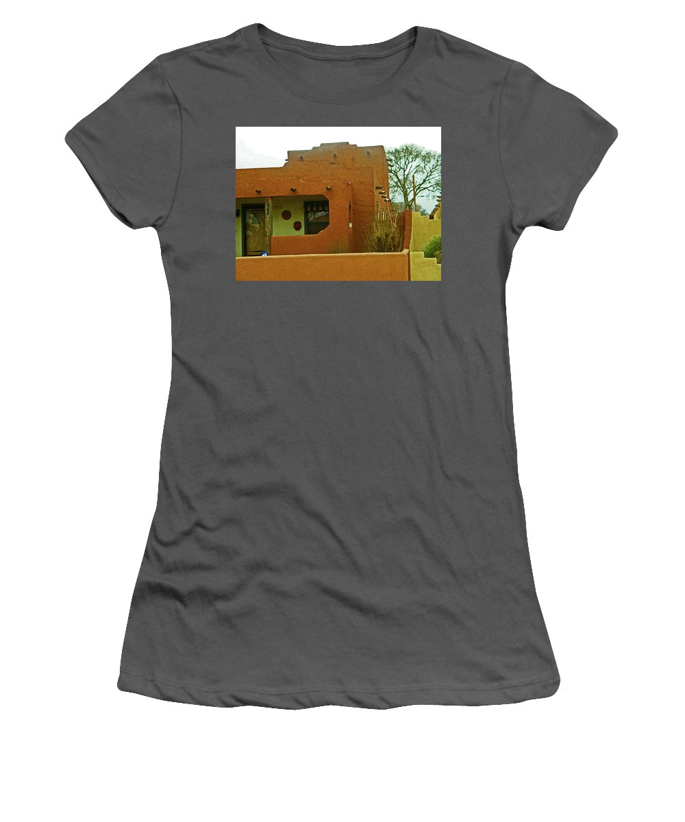 Abstract Women's T-Shirt (Athletic Fit) featuring the digital art Hacienda 9 by Lenore Senior