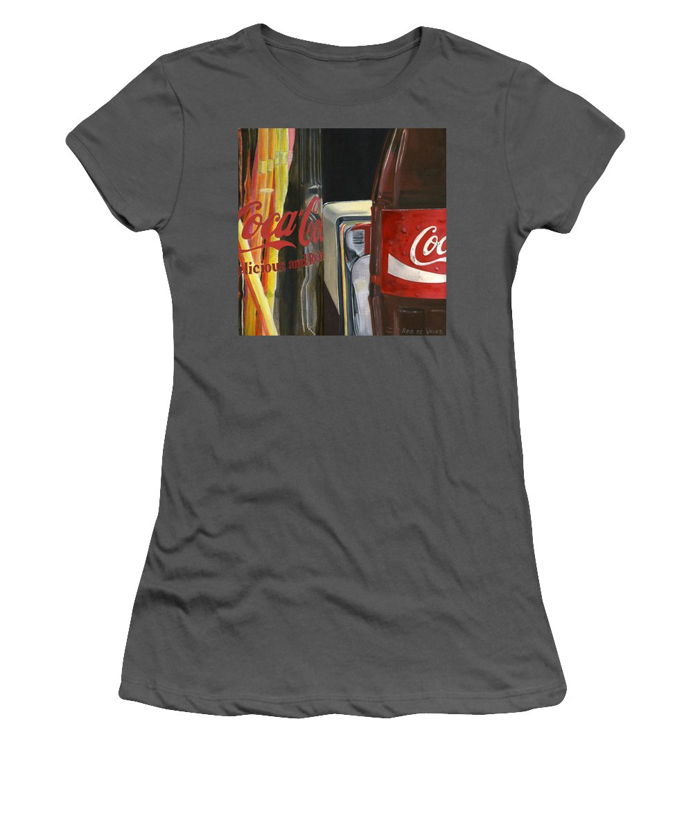 Coca Women's T-Shirt (Athletic Fit) featuring the painting Have A Coke... by Rob De Vries