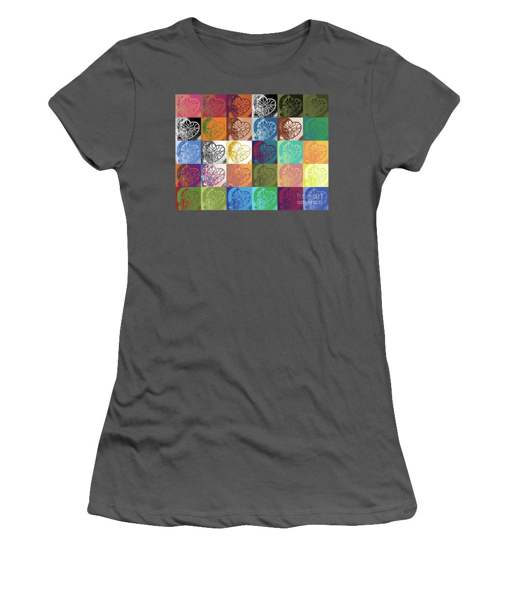 Heart Women's T-Shirt (Athletic Fit) featuring the digital art Heart To Heart Rendition 5x6 Equals 30 by Kerryn Madsen-Pietsch