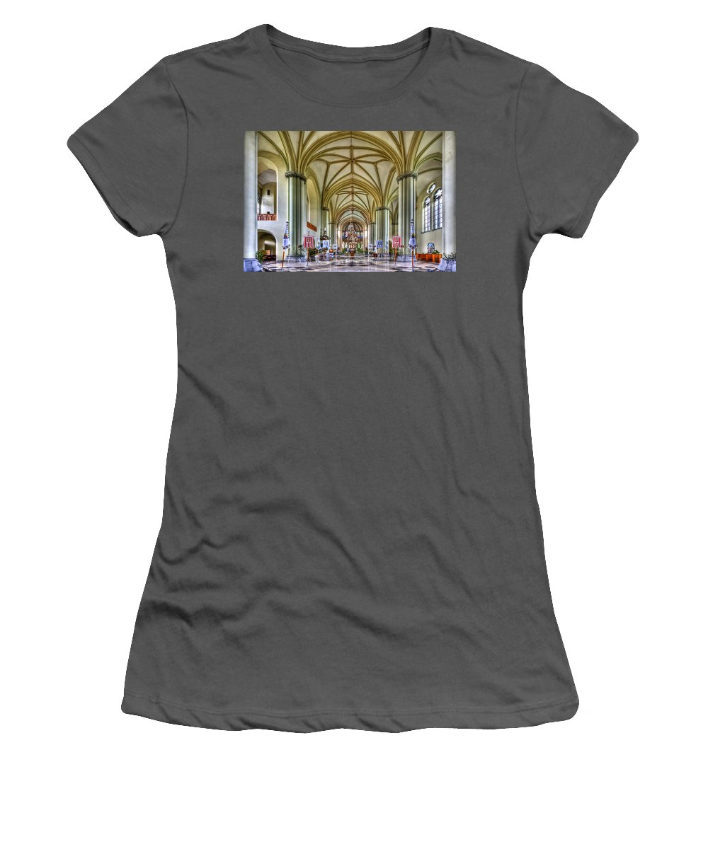 Church Women's T-Shirt (Athletic Fit) featuring the photograph Heavenly by Evelina Kremsdorf