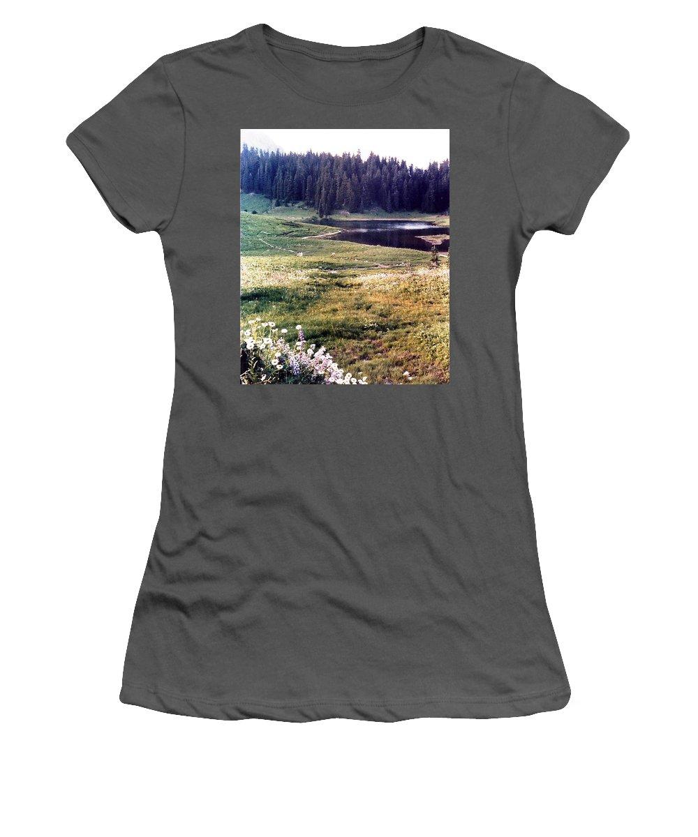 Mountains Women's T-Shirt (Athletic Fit) featuring the photograph Hidden Valley by Carol Allen Anfinsen