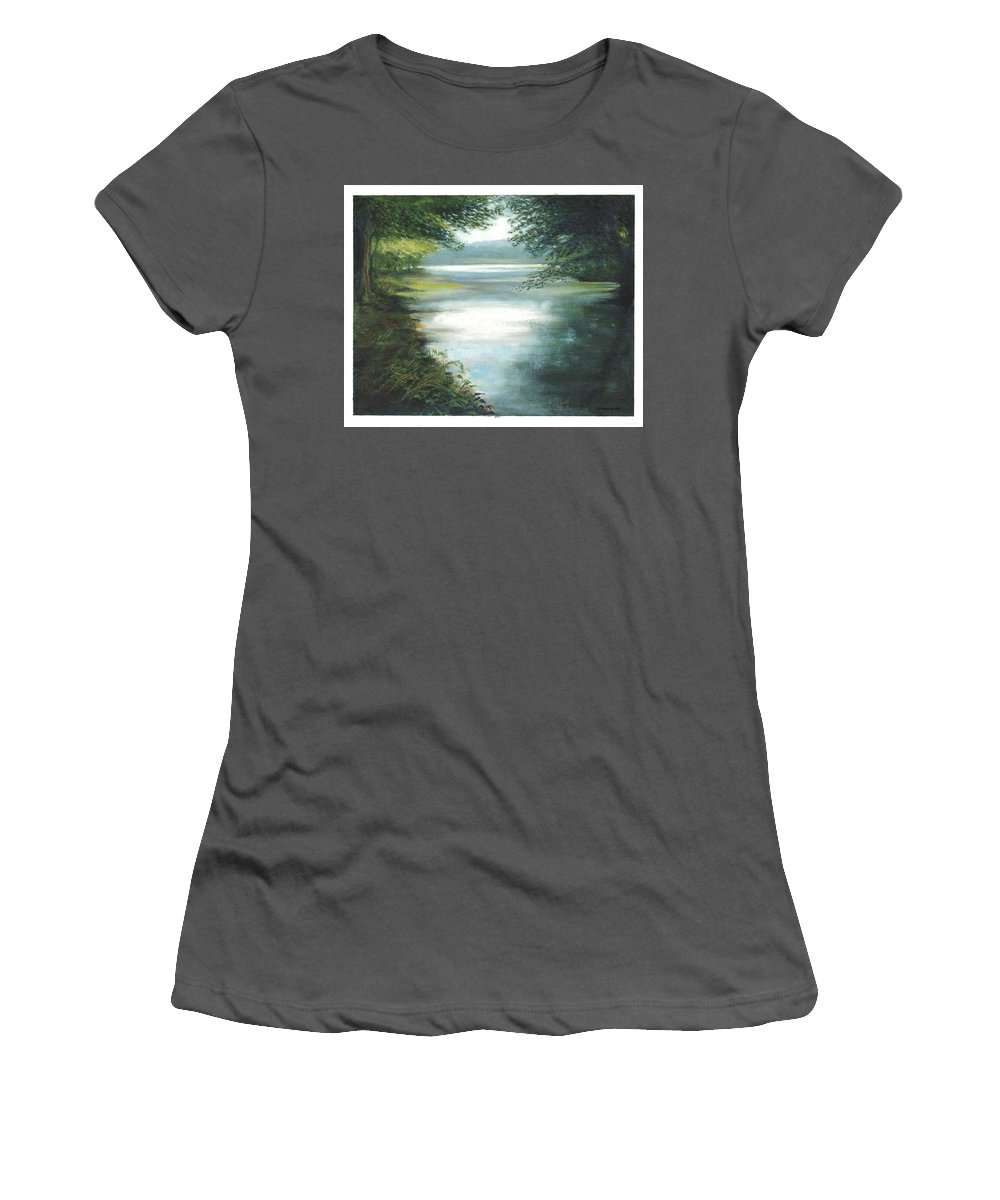 Afternoon Women's T-Shirt (Athletic Fit) featuring the painting Hidden View by Dennis Kirby