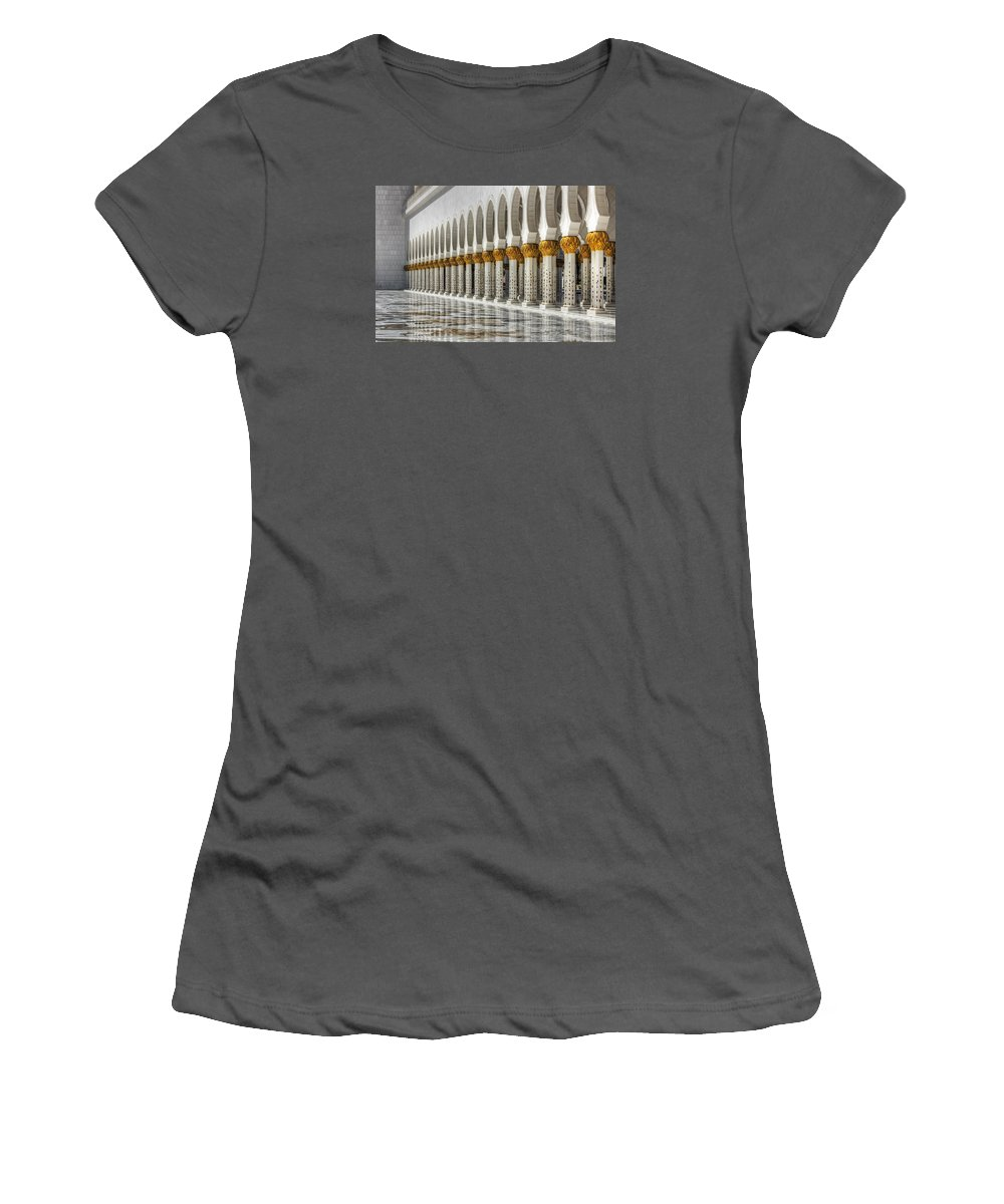 Ancient Women's T-Shirt (Athletic Fit) featuring the photograph Hinduism Arch 1 by John Swartz