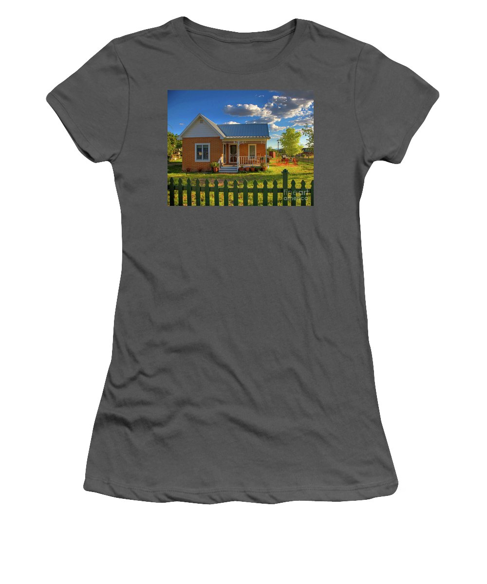 Landscape Women's T-Shirt (Athletic Fit) featuring the photograph Historic Tombstone In Arizona by Charlene Mitchell